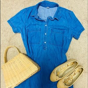 Chambray Denim Old Navy Shirt Dress Size Medium